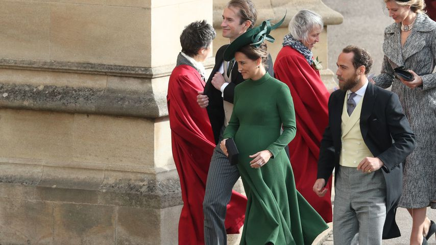 Pippa Middleton mit James Matthews (links) und Bruder James Middleton (rechts)