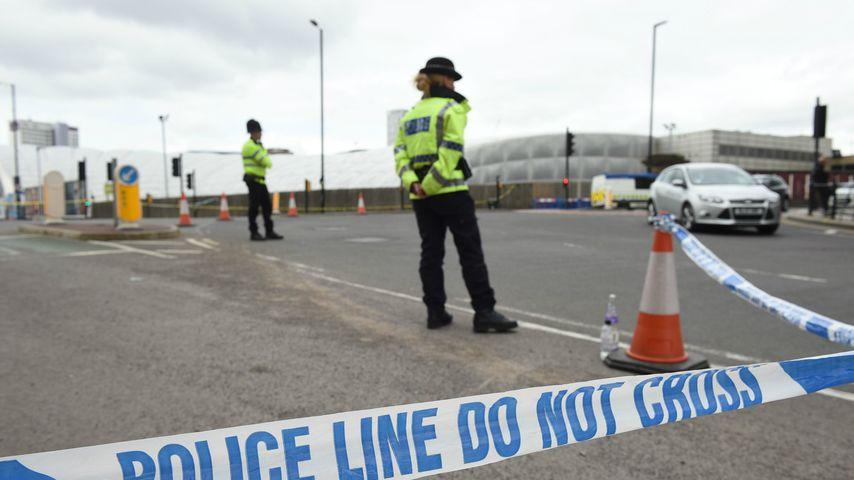 Die Polizei sperrt Manchester nach dem Attentat großflächig ab