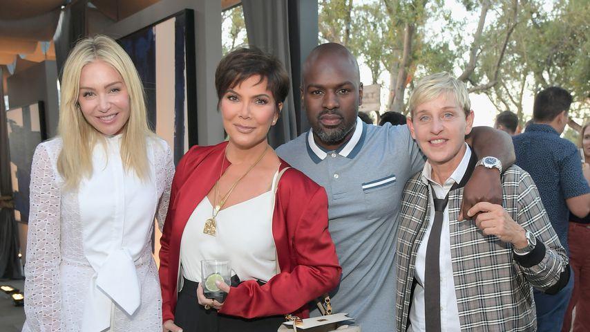 Portia de Rossi, Kris Jenner, Corey Gamble und Ellen DeGeneres