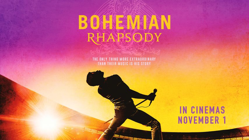 """Poster von """"Bohemian Rhapsody"""" mit Rami Malek als Freddie Mercury"""