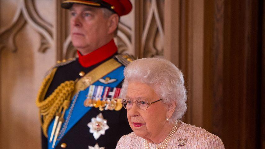 Prinz Andrew und Queen Elizabeth II. in Windsor, 2017