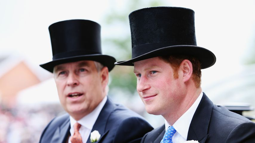 Prinz Andrew und Prinz Harry im Juni 2014