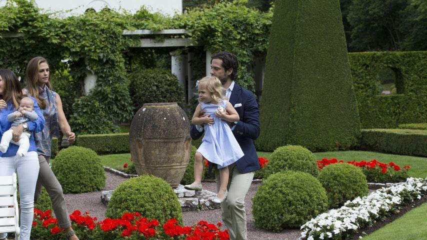Prinz Carl Philip und Prinzessin Leonore am Rande eines Fotoshootings