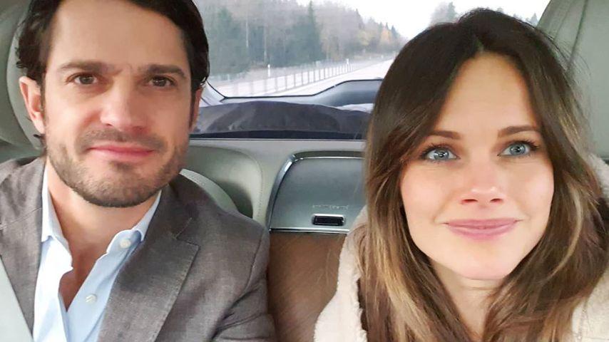 Wie Normalos: Prinz Carl Philip und Sofia posten Paar-Selfie