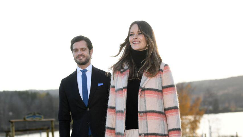 Prinz Carl Philip und Prinzessin Sofia im Oktober 2020 in Sunne, Schweden