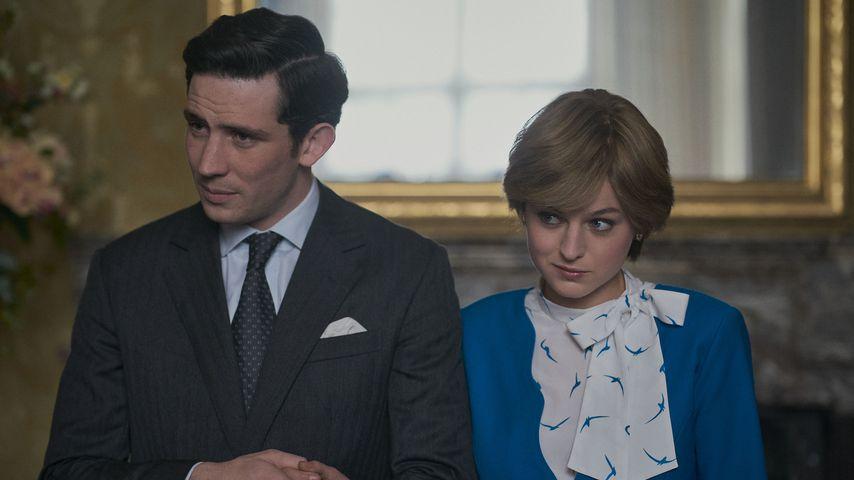 "Prinz Charles (Josh O'Connor) und Prinzessin Diana (Emma Corrin) in ""The Crown"""