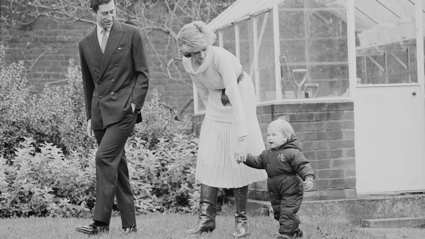 Prinz Charles, Prinzessin Diana und Prinz William im Dezember 1983