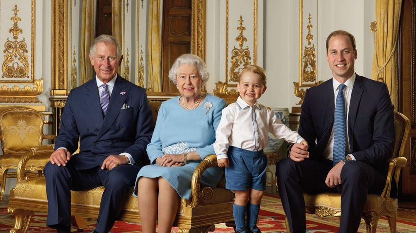 Prinz Charles, Queen Elizabeth, Prinz George und Prinz William