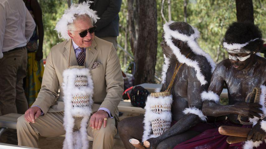 Prinz Charley bei einem Besuch in Gove, Australien