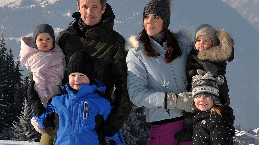 Die dänischen Royals Frederik und Mary mit ihren Kindern