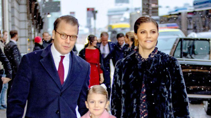 Prinz Daniel, Prinzessin Estelle und Kronprinzessin Victoria im Dezember 2018