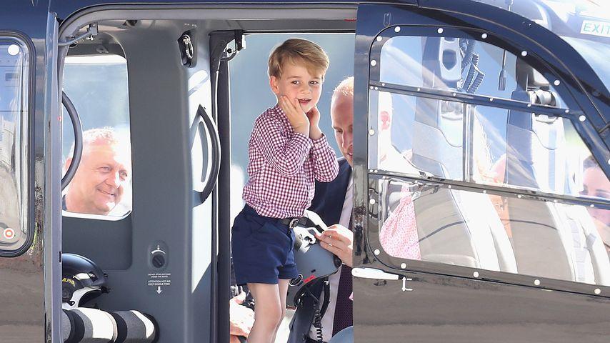 Prinz George am Flughafen Hamburg