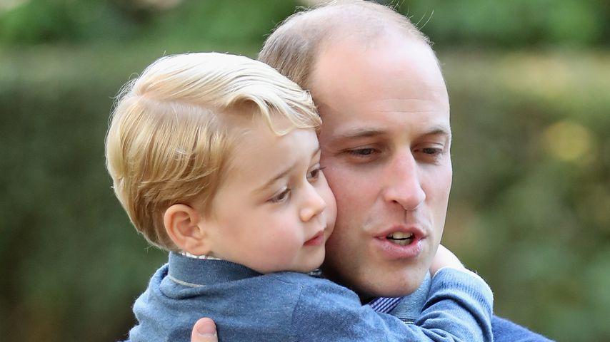 Prinz George und Prinz William im September 2016
