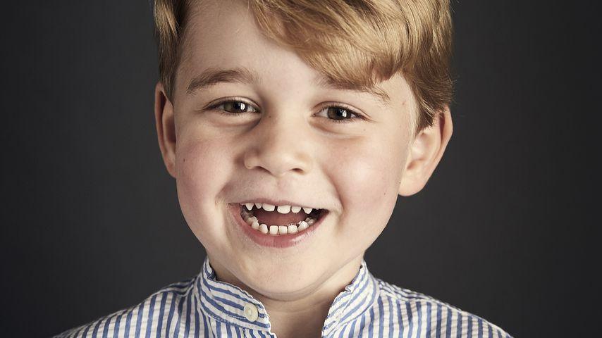 Glückliche Grinse-Backe: Prinz George wird fünf Jahre alt!