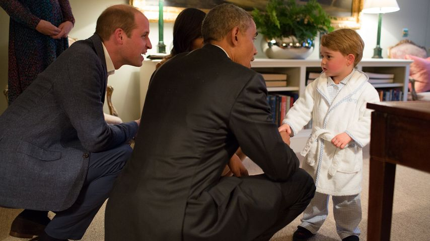 Putzige Pyjama-Party: Prinz George verzaubert Barack Obama!
