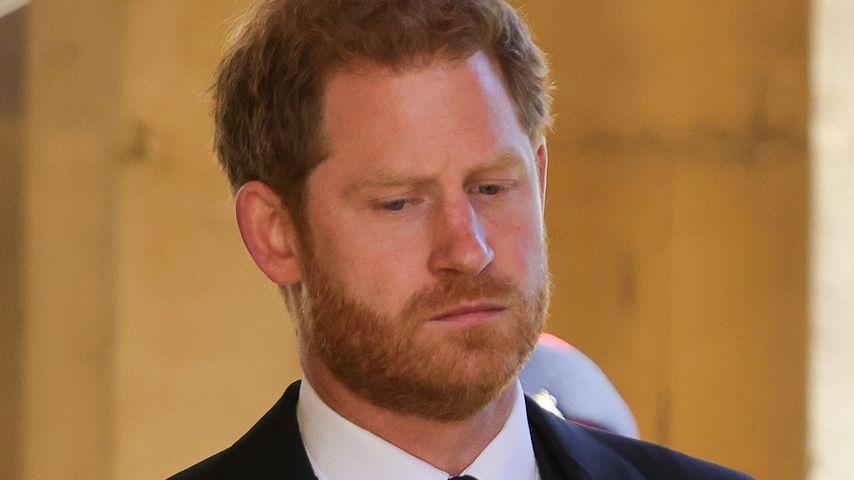 Prinz Harry bei der Beerdigung von Prinz Philip
