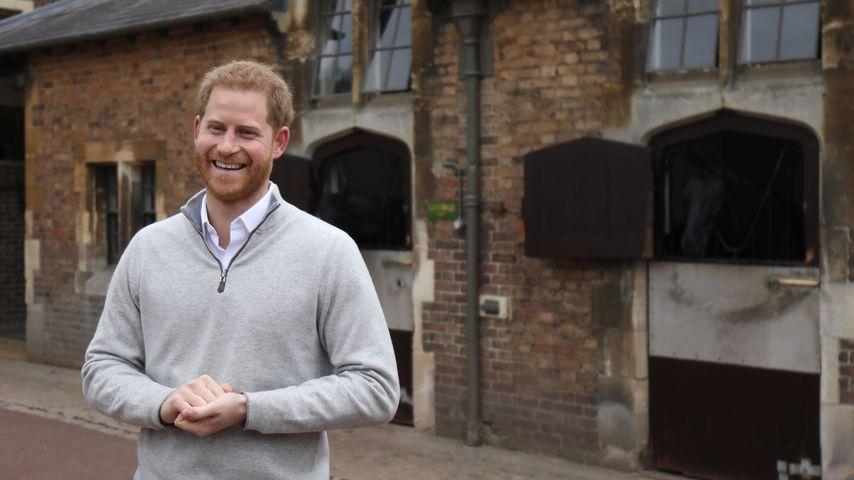 Prinz Harry kurz nach der Geburt seines Sohnes im Mai 2019