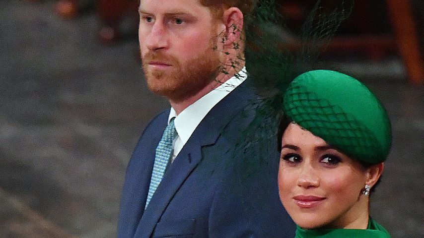 Prinz Harry und Meghan in der Westminster Abbey in London im März 2020