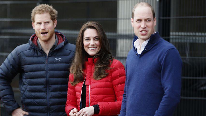 Prinz Harry, Herzogin Kate und Prinz William beim Training zum London Marathon in London