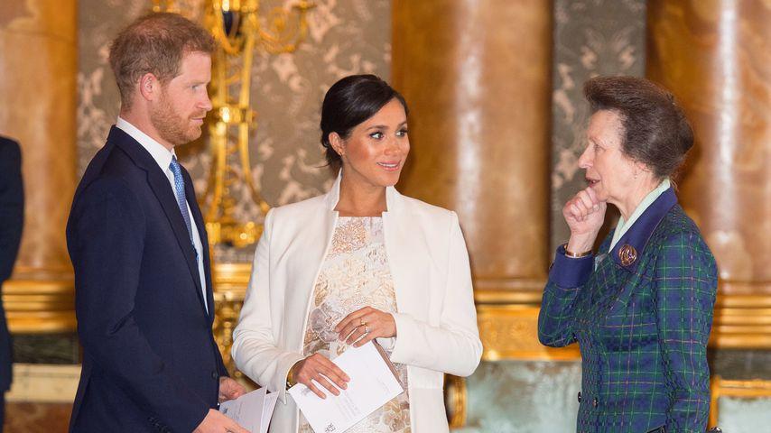 Prinz Harry, Herzogin Meghan und Prinzessin Anne im März 2019