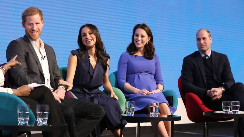 Prinz Harry, Meghan Markle, Herzogin Kate und Prinz William in London
