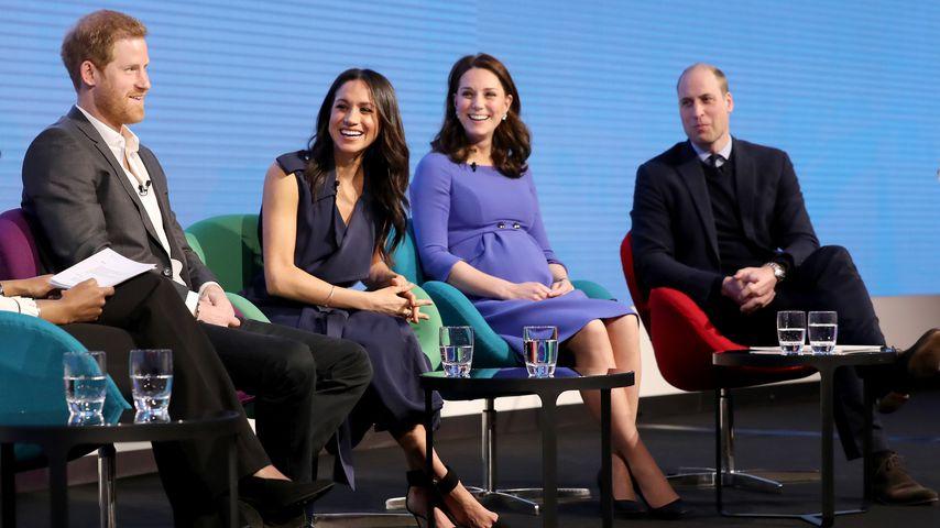 Prinz Harry, Meghan Markle, Herzogin Kate und Prinz William, Februar 2018