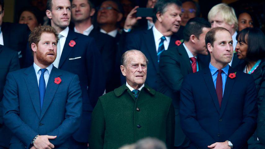 Prinz Harry, Prinz Philip und Prinz William, 2015