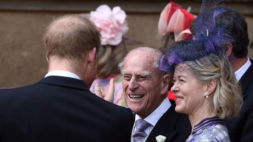 Prinz Harry, Prinz Philip und Lady Helen Taylor