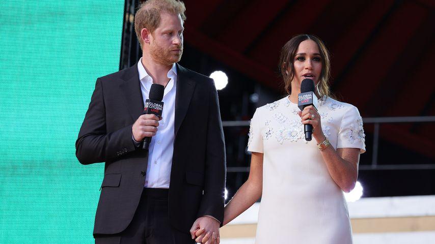 Prinz Harry und Herzogin Meghan bei Bühnenansprache, September 2021