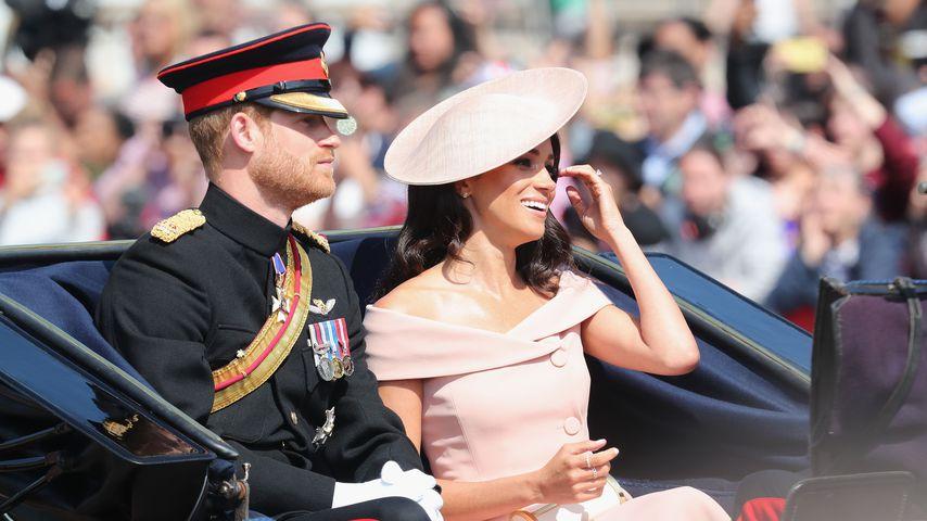 Prinz Harry und Herzogin Meghan bei der Geburtstagsparade der Queen 2018