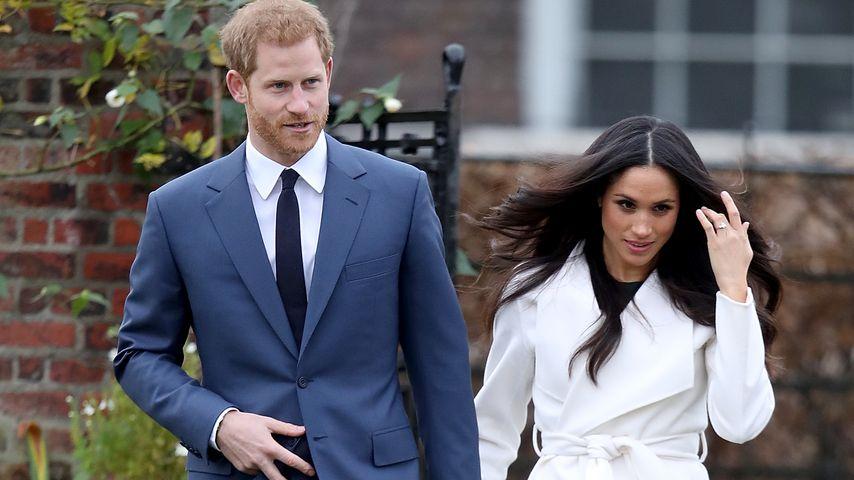 Prinz Harry und Meghan Markle im Kensington Palace in London