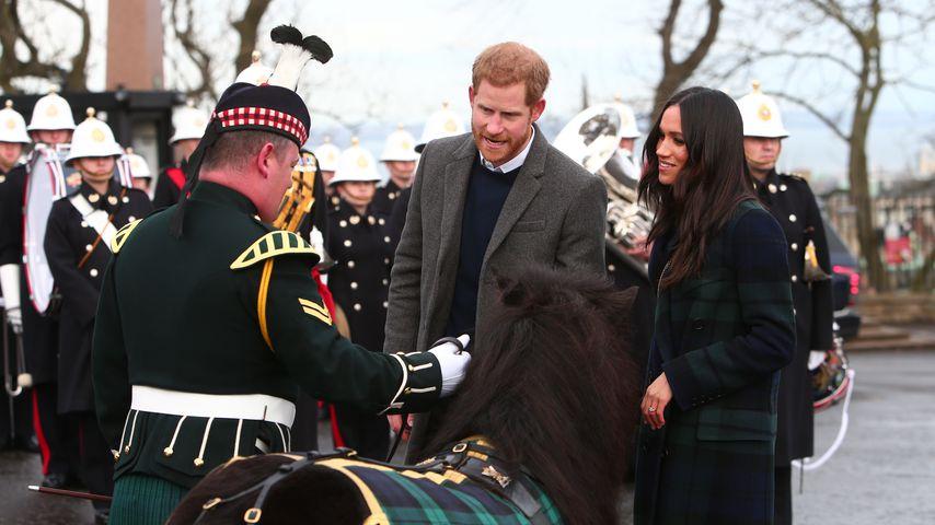 Prinz Harry und Meghan Markle am Edinburgh Castle