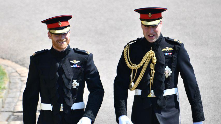 Prinz Harry und Prinz William an Harrys Hochzeitstag, 2018