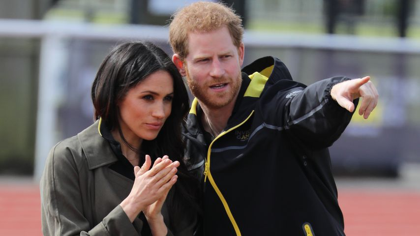Meghan Markle und Prinz Harry im April 2018 in Bath