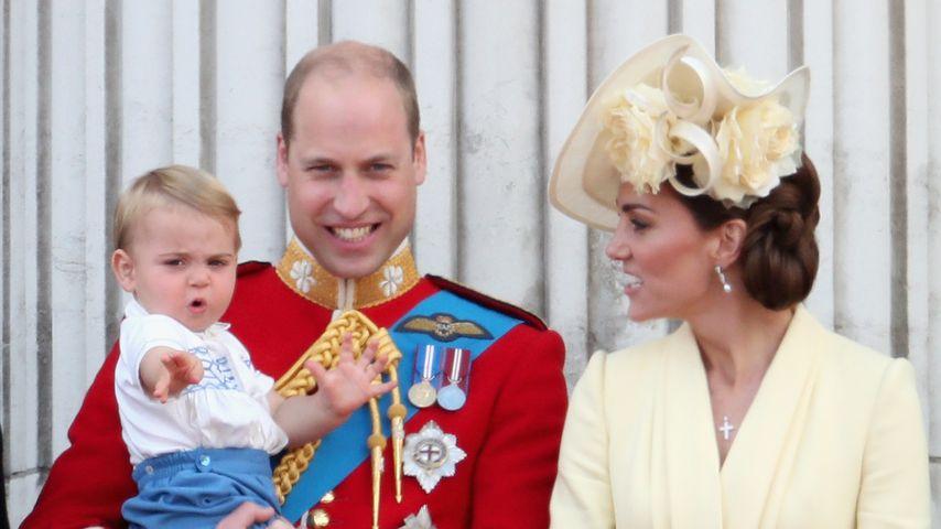 Prinz Louis, Prinz William und Herzogin Kate