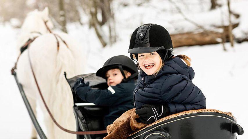 Prinz Oscar und Prinzessin Estelle von Schweden