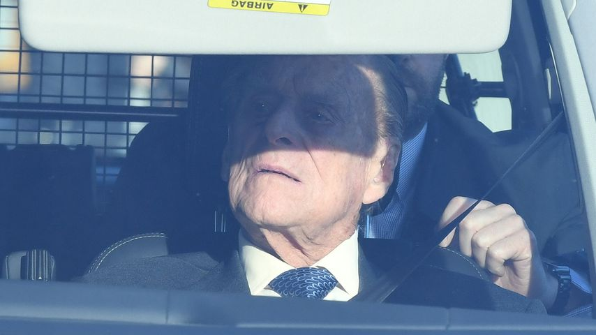 Prinz Philip auf dem Weg zum Lunch der Queen