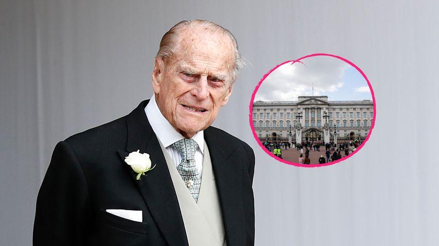 Prinz Philips Tod: Royal-Fans versammeln sich vor Palast