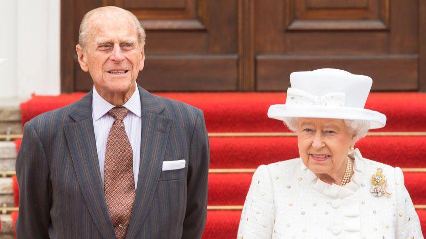 Prinz Philip und Queen Elizabeth II. am Schloss Bellevue, 2015