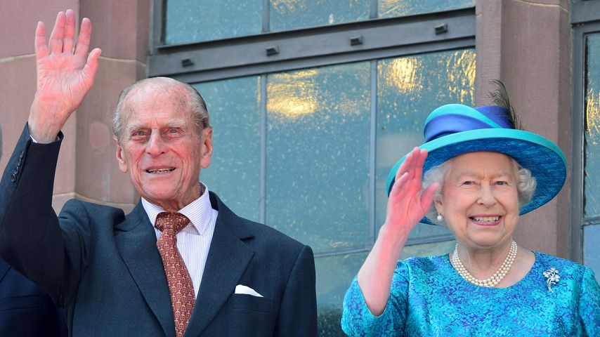 Prinz Philip und Queen Elizabeth in Frankfurt am Main 2015