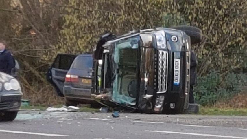 Der Wagen von Prinz Philip nach dem Autounfall im Januar 2019