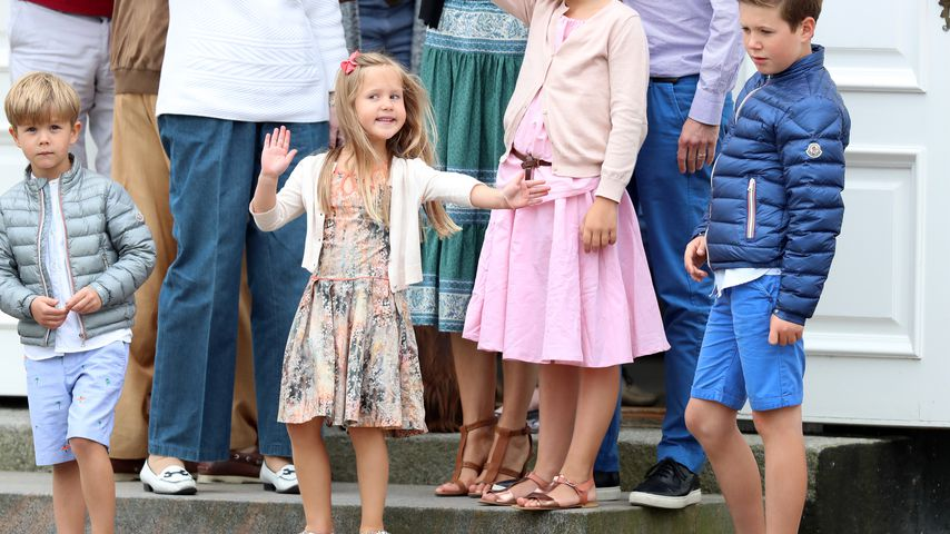 Prinz Vincent, Prinzessin Josephine und Prinz Christian im Juli 2016