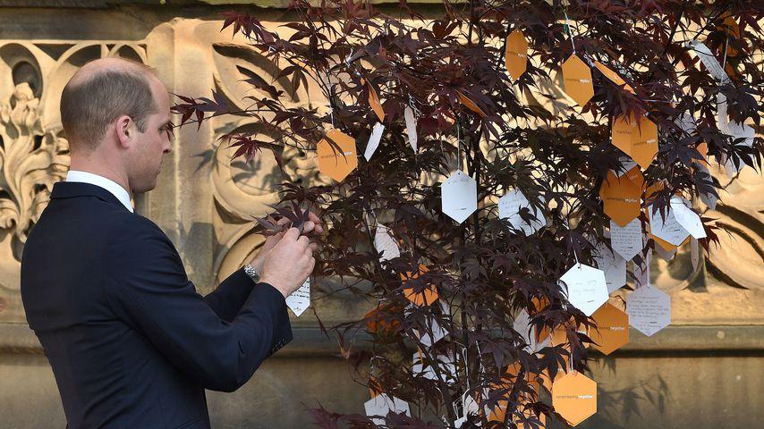 Prinz William auf der Gedenkfeier des Attentats in Manchester 2018