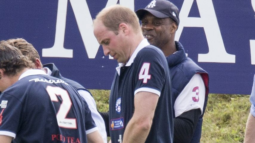 Prinz William bei einem Polo-Match in Beaufort Park