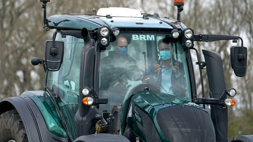 Prinz William beim Besuch der Farm Manor, 2021