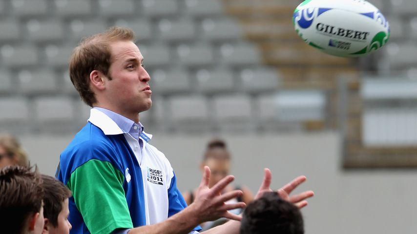 Mitleid mit William: Rugby war nicht die Stärke des Prinzen!