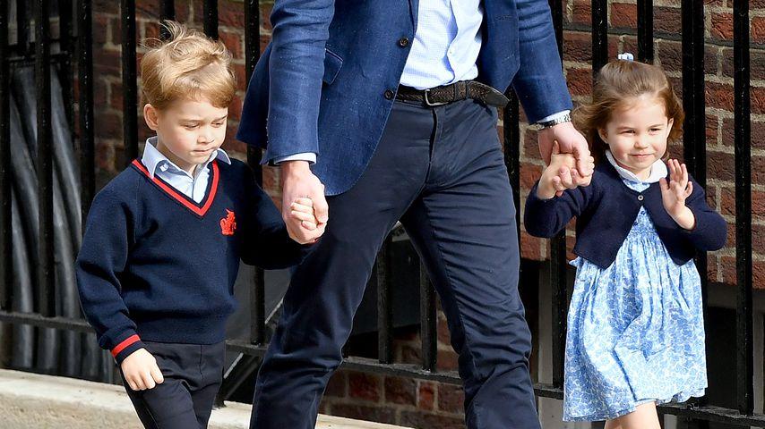 Prinz William mit Prinz George und Prinzessin Charlotte