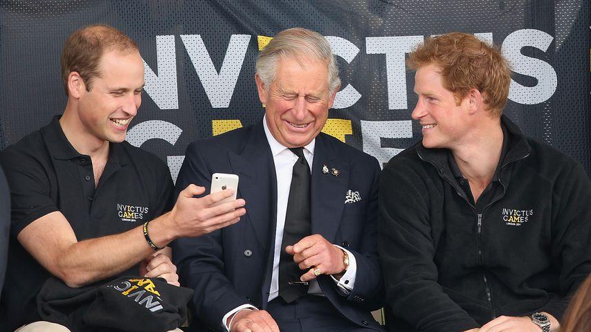 Prinz William, Prinz Charles und Prinz Harry bei den Invictus Games 2014 in London