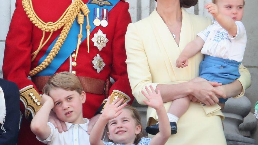 Prinz William, Prinz George, Herzogin Kate, Prinzessin Charlotte, Prinz Louis, London 2019