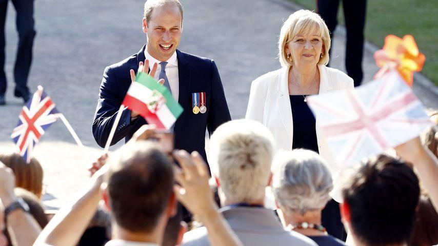 Prinz William und Hannelore Kraft in Düsseldorf